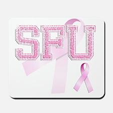 SFU initials, Pink Ribbon, Mousepad
