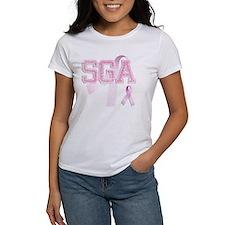 SGA initials, Pink Ribbon, Tee