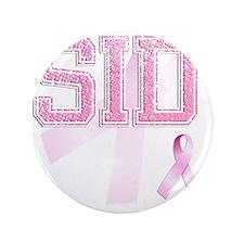 "SID initials, Pink Ribbon, 3.5"" Button"