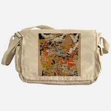 LUXURIOUS ANTIQUE JAPANESE KIMONO FO Messenger Bag