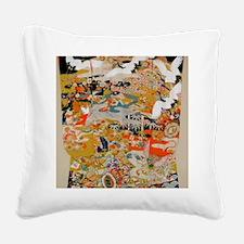 LUXURIOUS ANTIQUE JAPANESE KI Square Canvas Pillow