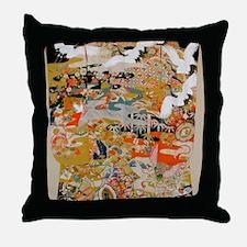 LUXURIOUS ANTIQUE JAPANESE KIMONO FOR Throw Pillow
