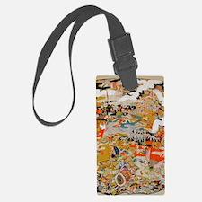 LUXURIOUS ANTIQUE JAPANESE KIMON Luggage Tag