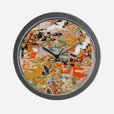LUXURIOUS ANTIQUE JAPANESE KIMONO FOR F Wall Clock