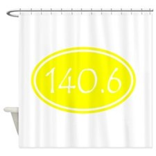 Yellow 140.6 Oval Shower Curtain