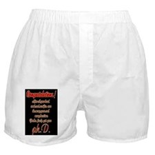 Congratulations Boxer Shorts