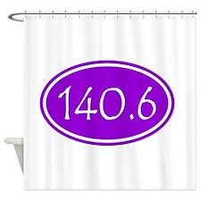 Purple 140.6 Oval Shower Curtain