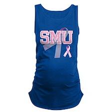SMU initials, Pink Ribbon, Maternity Tank Top