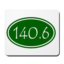 Green 140.6 Oval Mousepad