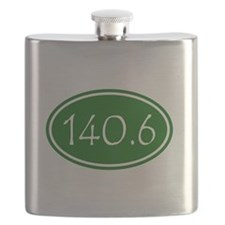 Green 140.6 Oval Flask