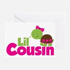 Girl Turtle Lil Cousin Greeting Card