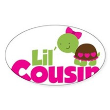 Girl Turtle Lil Cousin Decal
