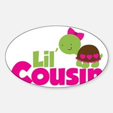 Girl Turtle Lil Cousin Sticker (Oval)