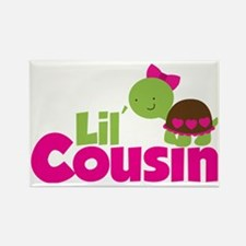Girl Turtle Lil Cousin Rectangle Magnet