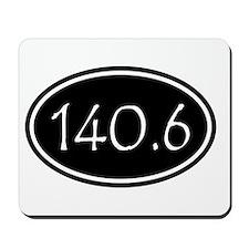 Black 140.6 Oval Mousepad