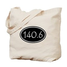 Black 140.6 Oval Tote Bag
