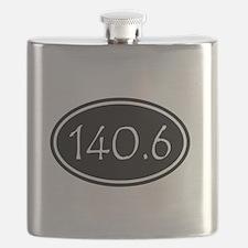 Black 140.6 Oval Flask