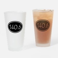 Black 140.6 Oval Drinking Glass