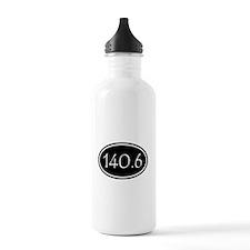 Black 140.6 Oval Water Bottle