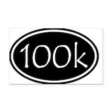 Black 100k Oval Rectangle Car Magnet