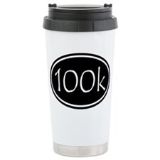 Black 100k Oval Travel Mug