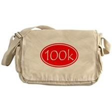 Red 100k Oval Messenger Bag