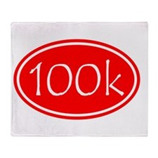 Red 100k Oval Throw Blanket