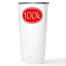 Red 100k Oval Travel Mug