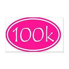 Pink 100k Oval Rectangle Car Magnet