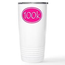 Pink 100k Oval Travel Mug