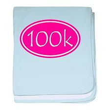 Pink 100k Oval baby blanket
