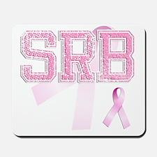 SRB initials, Pink Ribbon, Mousepad