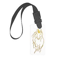 Unicorn-print Luggage Tag