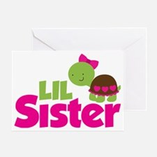 Girl Turtle Little Sister Greeting Card