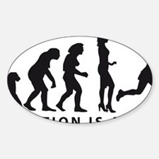 Evolution Hockey Woman B 2c Sticker (Oval)