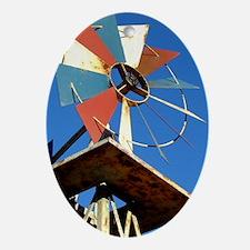 Farm Country Windmill Oval Ornament