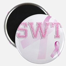 SWT initials, Pink Ribbon, Magnet