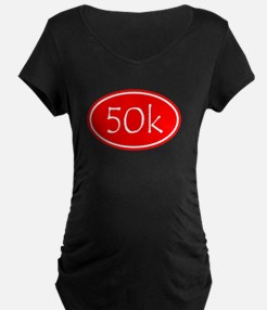 Red 50k Oval Maternity T-Shirt