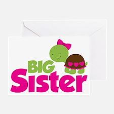 Girl Turtle Big Sister Greeting Card