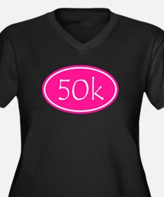 Pink 50k Oval Plus Size T-Shirt