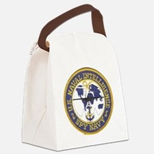Spy Navy Patch Canvas Lunch Bag