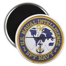 Spy Navy Patch Magnet