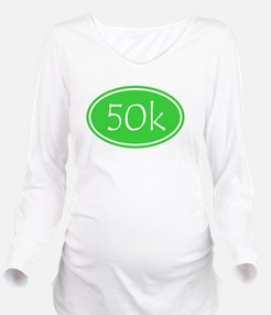 Lime 50k Oval Long Sleeve Maternity T-Shirt