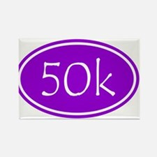 Purple 50k Oval Magnets