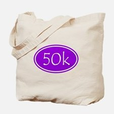 Purple 50k Oval Tote Bag