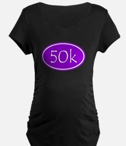 Purple 50k Oval Maternity T-Shirt