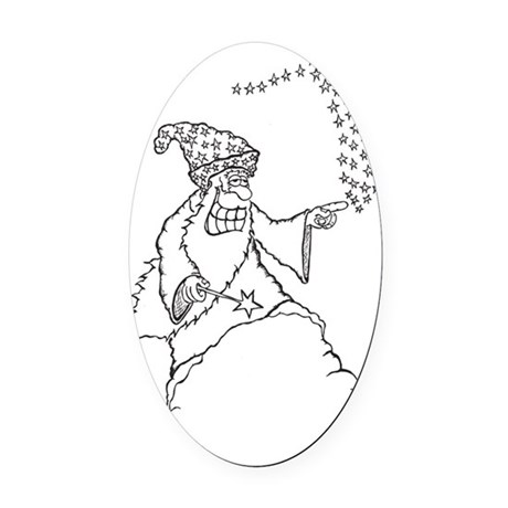 Wizard Oval Car Magnet