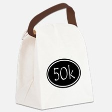 Black 50k Oval Canvas Lunch Bag