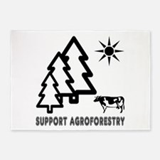 Support Agroforestry 5'x7'Area Rug