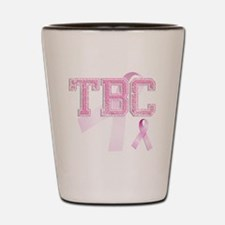 TBC initials, Pink Ribbon, Shot Glass